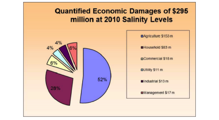 economic damages caused by high salinity png