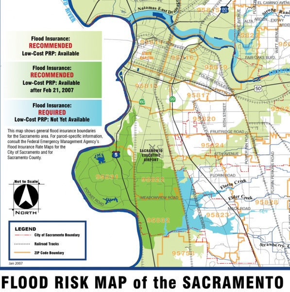 California Flood Map on