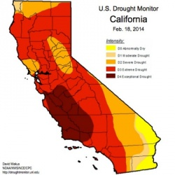 US Drought Monitor/california_map/Feb. 18, 2014