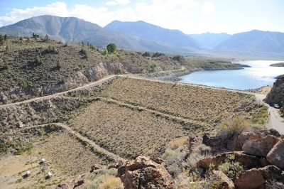 Long Valley Dam on Crowley Lake, Mono County